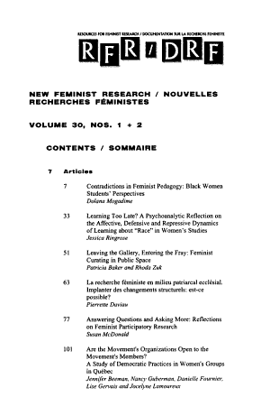 Resources for Feminist Research PDF