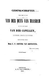 Gedenkschriften van den graaf Van der Duyn van Maasdam en van den baron Van der Capellen