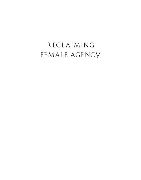 Download Reclaiming Female Agency Book