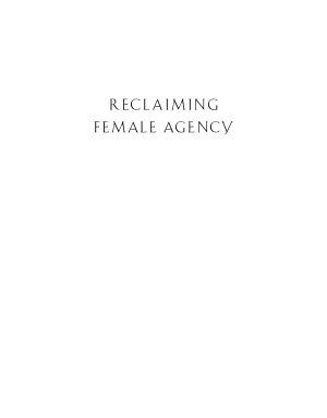 Reclaiming Female Agency PDF