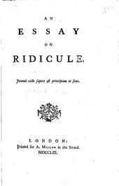 An Essay on Ridicule ...