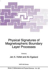 Physical Signatures of Magnetospheric Boundary Layer Processes