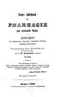 Neues Jahrbuch f  r Pharmacie und verwandte F  cher PDF