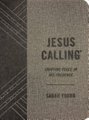 Jesus Calling  Textured Gray Leathersoft