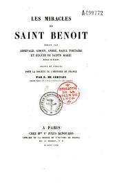 Les miracles de Saint-Benoit