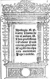 Apologia ... de comparata auctoritate Papae et Ecclesiae
