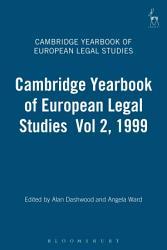 Cambridge Yearbook of European Legal Studies Vol 2  1999 PDF