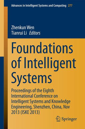 Foundations of Intelligent Systems PDF
