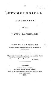 An Etymological Dictionary of the Latin Language
