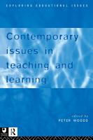 Contemporary Issues in Teaching and Learning PDF