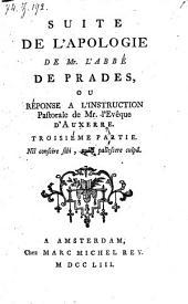Reponse a l'instruction pastorale de l'Eveque d'Auxerre: Volume 3