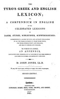 The Tyro s Greek and English Lexicon  Or a Compendium in English of the     Lexicons of Damm  Sturze  Schleusner  Schweigh  user     Second Edition PDF