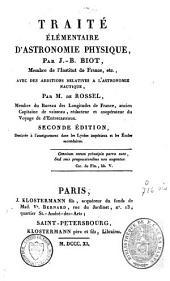 Traité élémentaire d'astronomie physique: Volume2