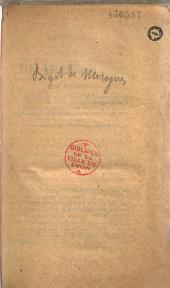 Discours de M. le Baron de Morogues, Pair de France, dans la discussion de la loi sur les douanes, sur la nécessité de rétablir les droits à l'entrée des laines étrangères, tels qu'ils étaient antérieurement à l'ordonnance du 8 juillet 1834: séance de la Chambre des pairs du 10 juin 1836