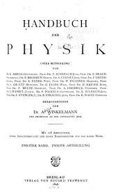 Handbuch der physik: Bd. 1.Abth. Optik. 2.Abth. Wärme