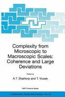 Complexity from Microscopic to Macroscopic Scales  Coherence and Large Deviations PDF