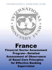 France: Financial Sector Assessment Program—Detailed Assessment of Observance of Basel Core Principles for Effective Banking Supervision