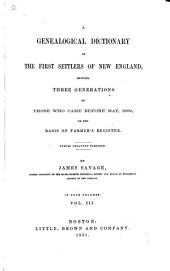 A Genealogical Dictionary of the First Settlers of New England: K-R
