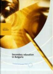 Secondary Education in Bulgaria