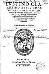 Abreviador de la historia general del famoso y excellente historiador Trogo Pompeyo