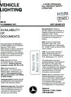 Vehicle Lighting  a Bibliography PDF