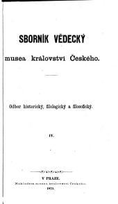 Příspěvky k historii českého pravopisu a výslovnosti staročeské