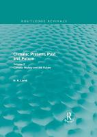 Climate  Present  Past and Future  Routledge Revivals  PDF