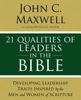 21 Qualities of Leaders in the Bible PDF