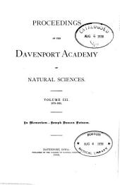 Proceedings of the Davenport Academy of Natural Sciences: Volume 3, Part 3