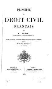 Principes de droit civil français: Volume18