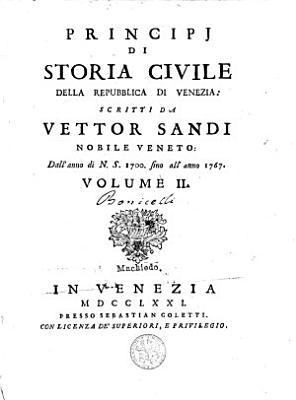 Principj Di Storia Civile Della Repubblica Di Venezia PDF