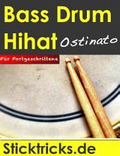 Schlagzeug lernen: Bass Drum-Hihat-Ostinato