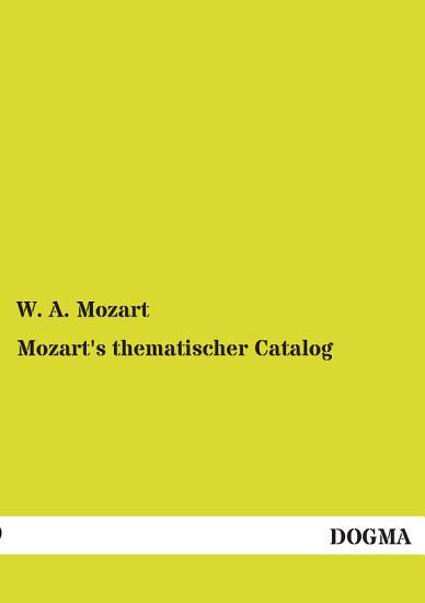 Mozart s Thematischer Catalog PDF