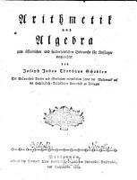 Arithmetik und Algebra PDF