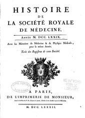 Histoire de la Société royale de médecine année ...: avec les Mémoires de médecine et de physique médicale, Volume3
