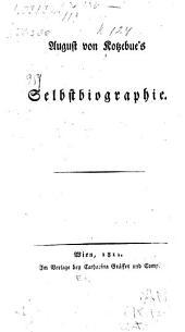 August von Kotzebue's Selbstbiographie