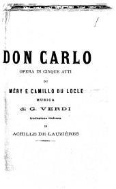 Don Carlo opera in cinque atti