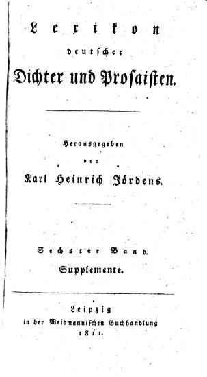 Lexikon deutscher Dichter und Prosaisten PDF