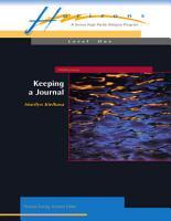Keeping a Journal PDF