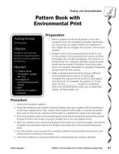 Environmental Print & Fluency/Comprehension: Pattern Book