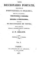 Novo diccionario portatil das linguas portugueza e ingleza  resumido do diccionario de Vieira PDF