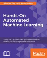Hands On Automated Machine Learning PDF