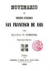 Novenario al Seráfico Patriarca San Frco. de Asís ...