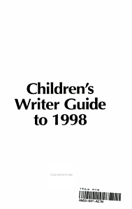 Children s Writer Guide To 1998 PDF