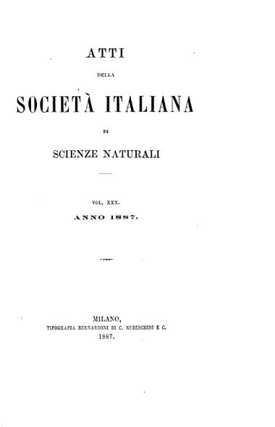 Download Atti della Societ   italiana di scienze naturali e del Museo civico di storia naturale di Milano Book