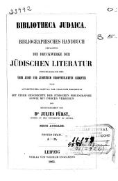 Bibliotheca judaica: Theil: A-H (VIII, 419 p.)