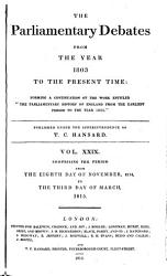 The Parliamentary Debates From The Year 1803 To The Present Time 08 Book PDF