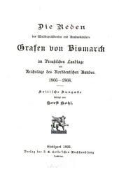 Die politischen reden des fürsten Bismarck: bd. 1866-1868