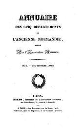 Annuaire des Cinq Departements de la Normandie