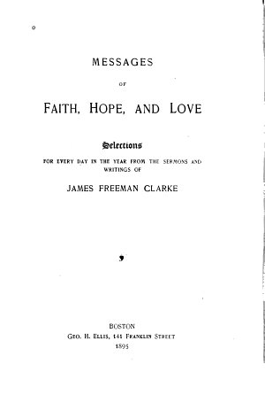 Messages of Faith  Hope  and Love